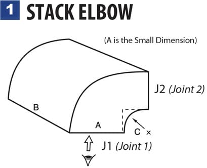 1 STACK ELBOW