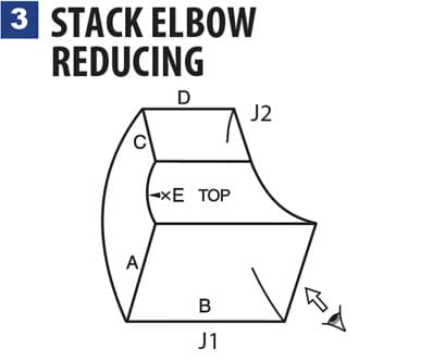 3 STACK ELBOW REDUCING